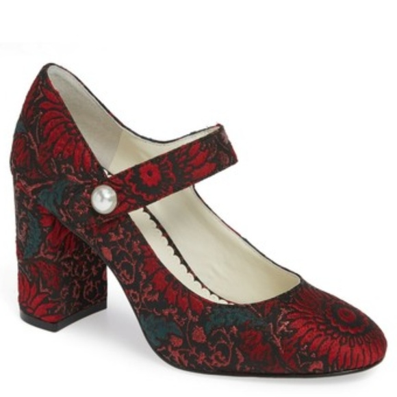 7b13a40f18 1901 Shoes   Thompson Mary Jane Pump Women Red Floral   Poshmark
